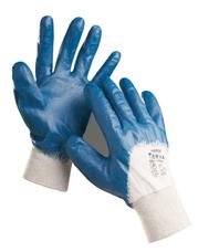 HARRIER kék mártott nitril kesztyű - 7-es méret