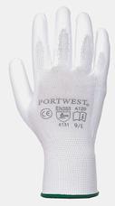 Portwest A120 szerelőkesztyű, fehér, S