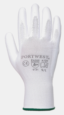 Portwest A120 szerelőkesztyű, fehér, L